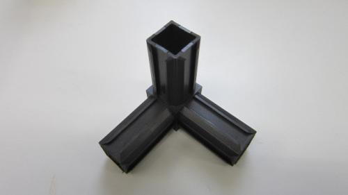 kunststoff 30x30 vierkant rohr eck verbinder aluminium shop online. Black Bedroom Furniture Sets. Home Design Ideas