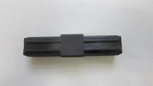 Plastic square tube straight connector aluminium